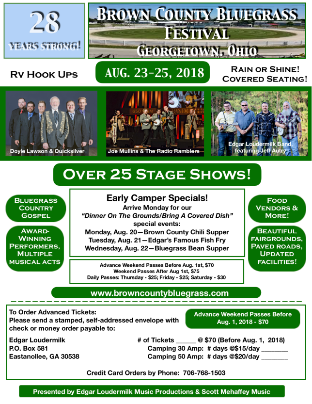 Brown County Bluegrass RV Flyer PNG
